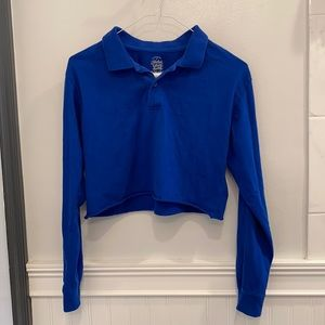 Blue cropped polo